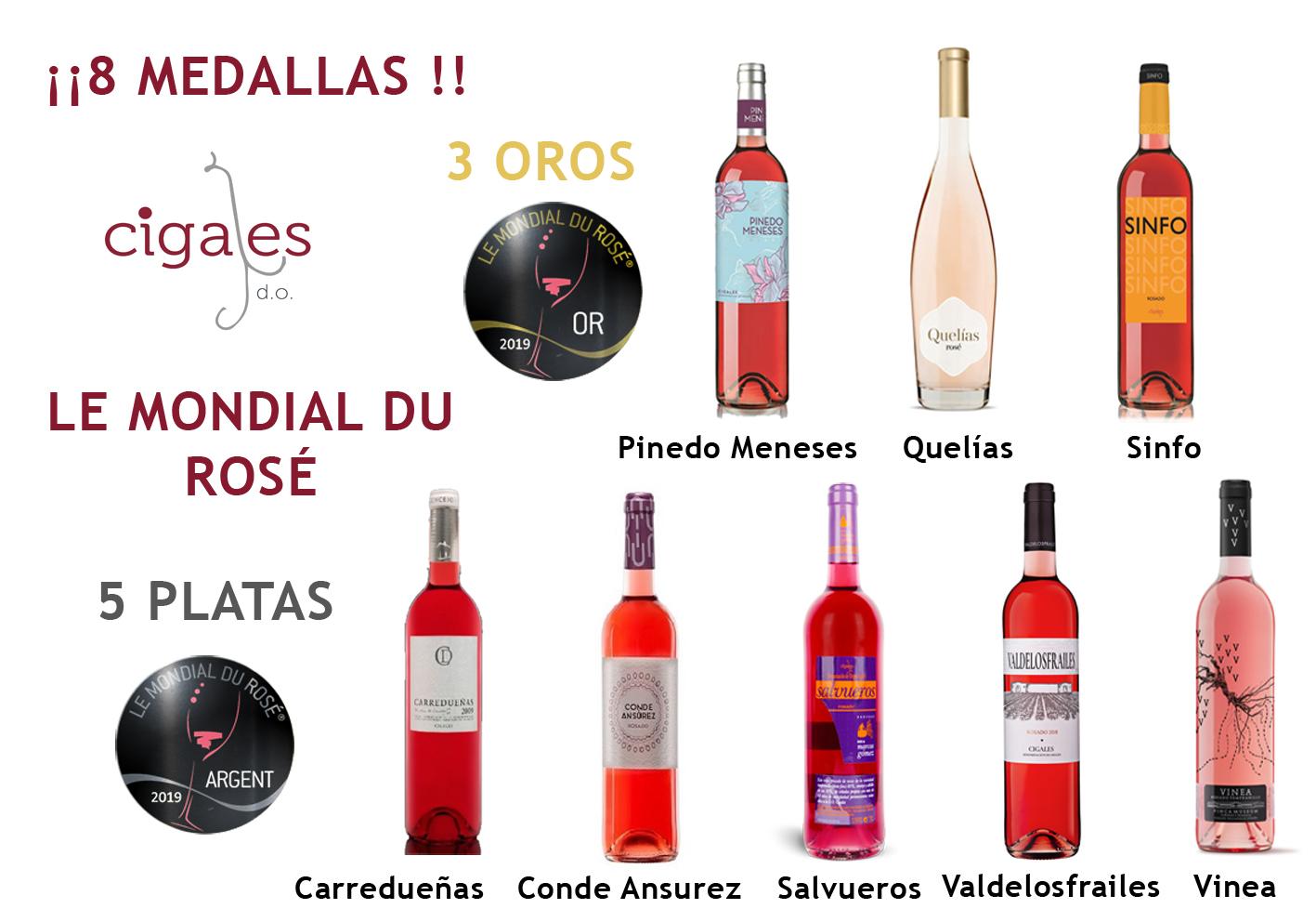 La DO Cigales obtiene tres de los 8 Oros españoles en el Mundial del Rosado de Cannes