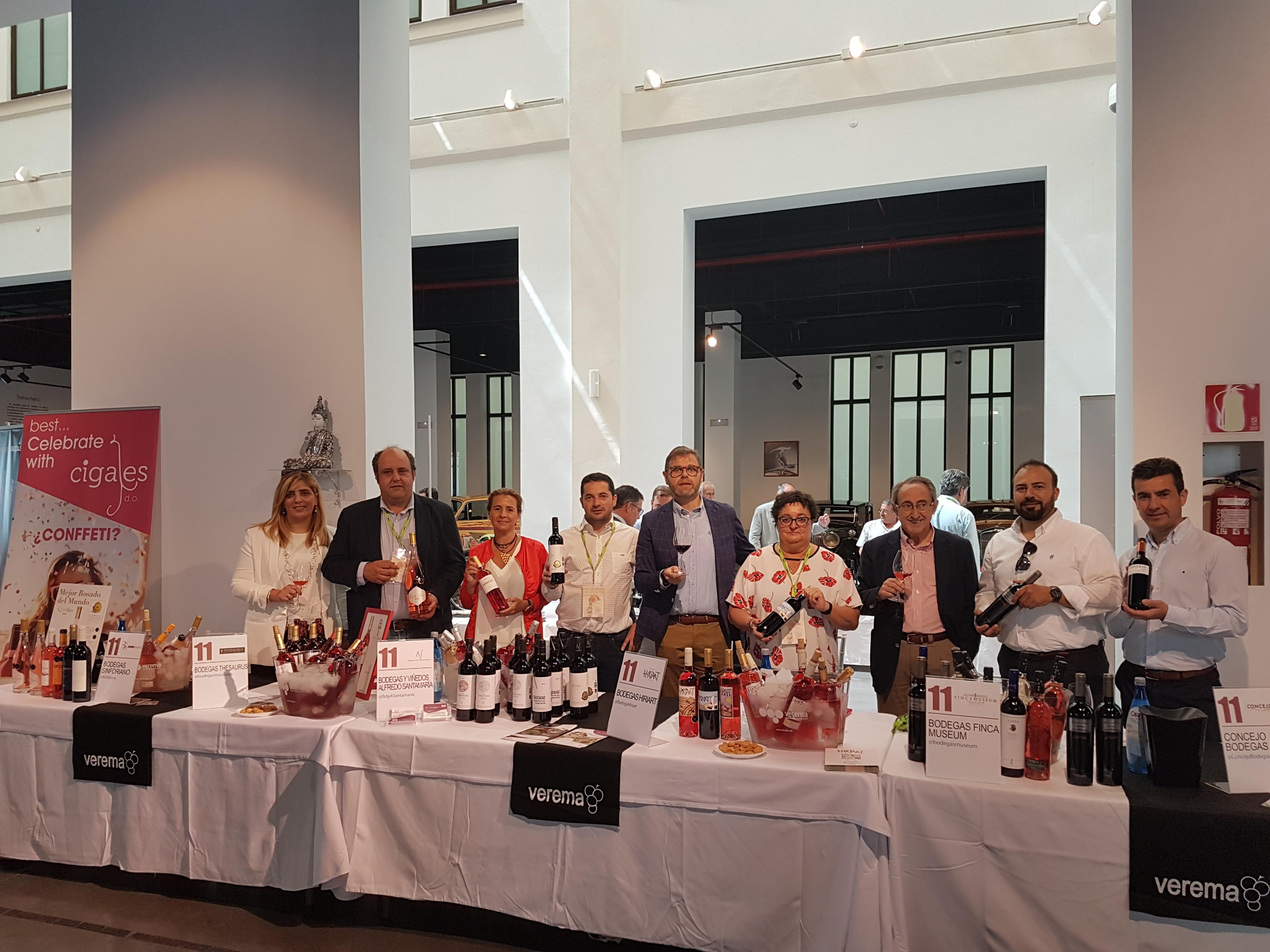 6 bodegas de la DO Cigales participan con éxito en la Experiencia Verema de Málaga