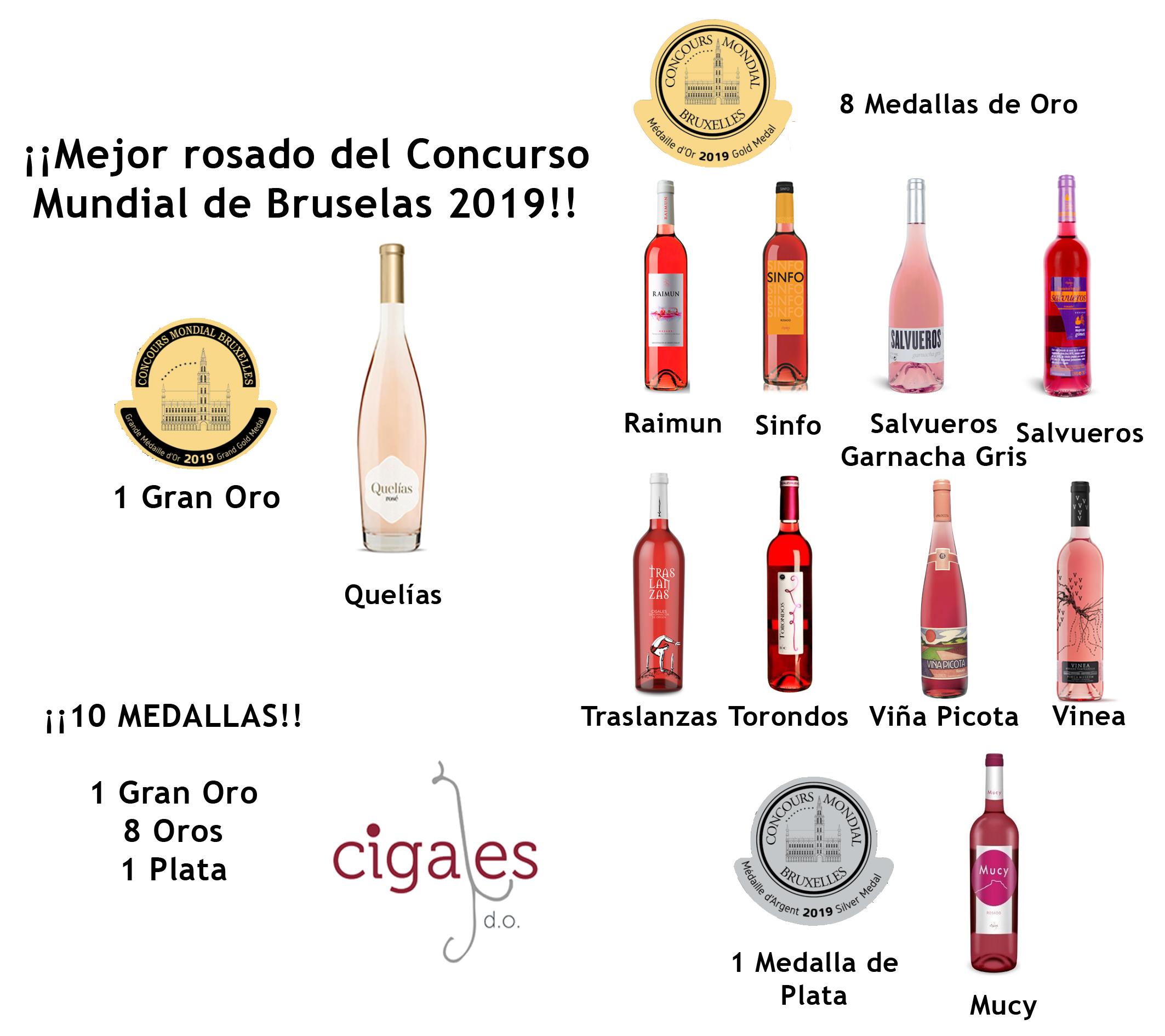 Quelías, mejor rosado del Concurso Mundial de Bruselas 2019