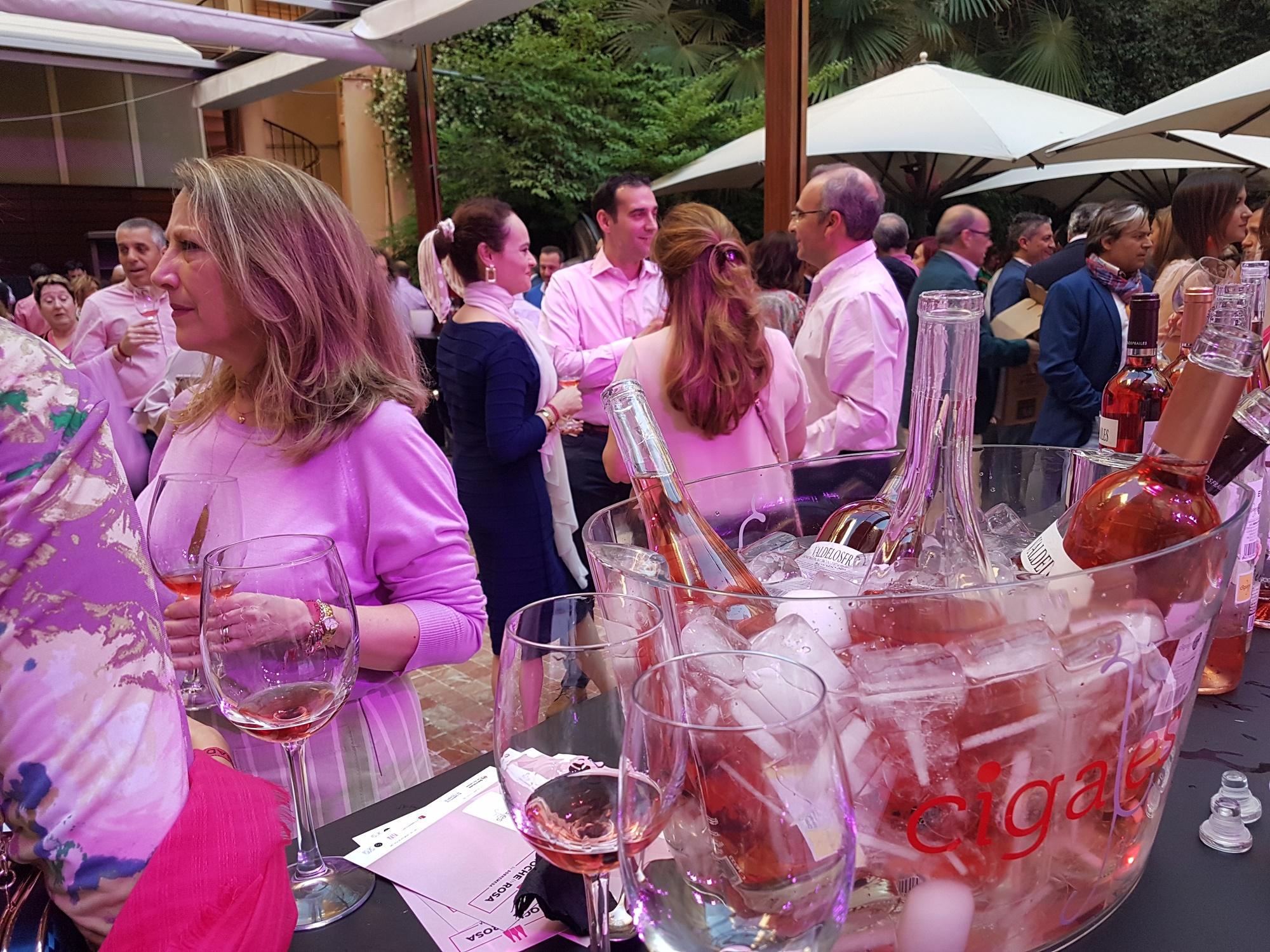 Éxito del efecto rosa de la DO Cigales en la noche madrileña