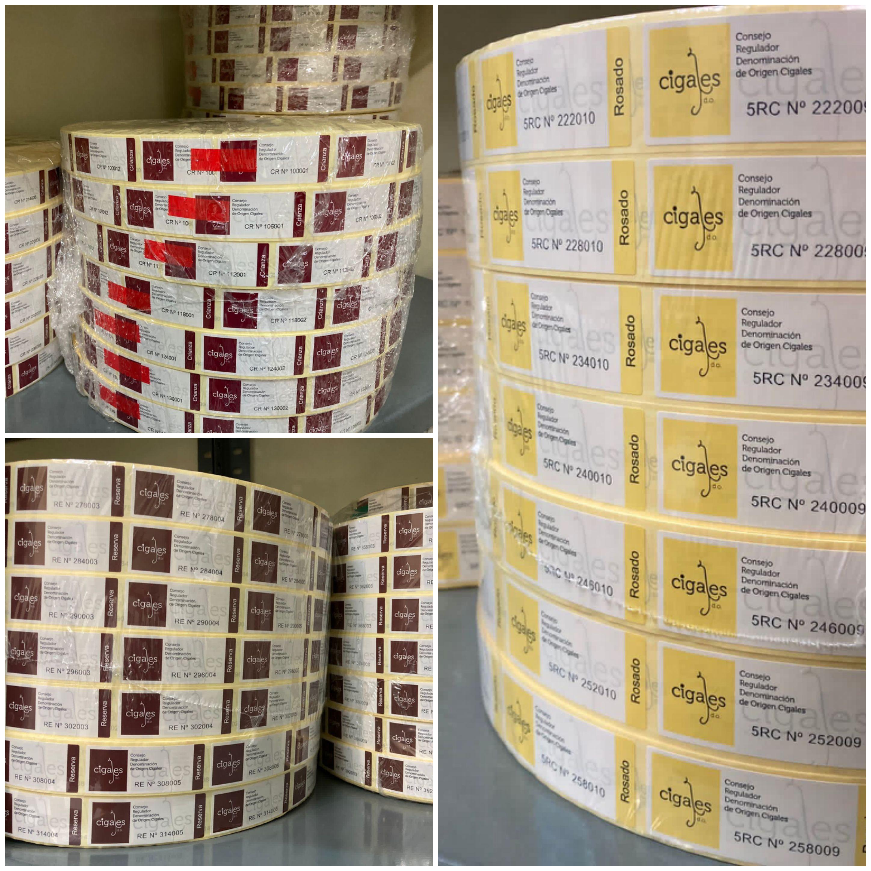 La D.O. Cigales cierra el año con la entrega de 3,2 millones de contraetiquetas