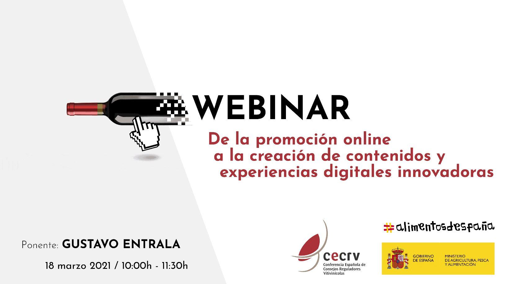 CECRV y el Ministerio de Agricultura, Pesca y Alimentación organizan un seminario web para impulsar la creatividad on line